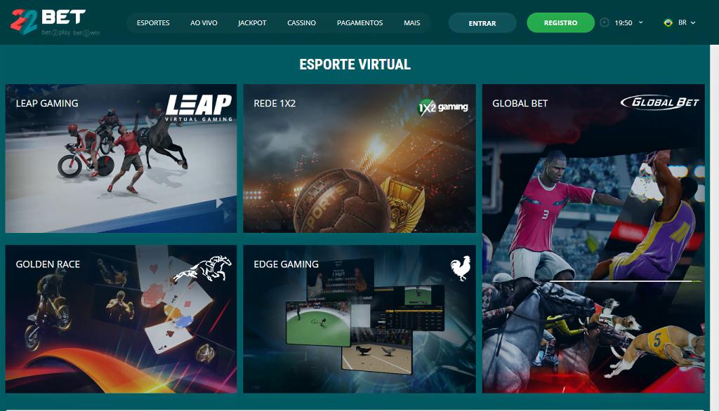 22bet esportes virtuais e-sports