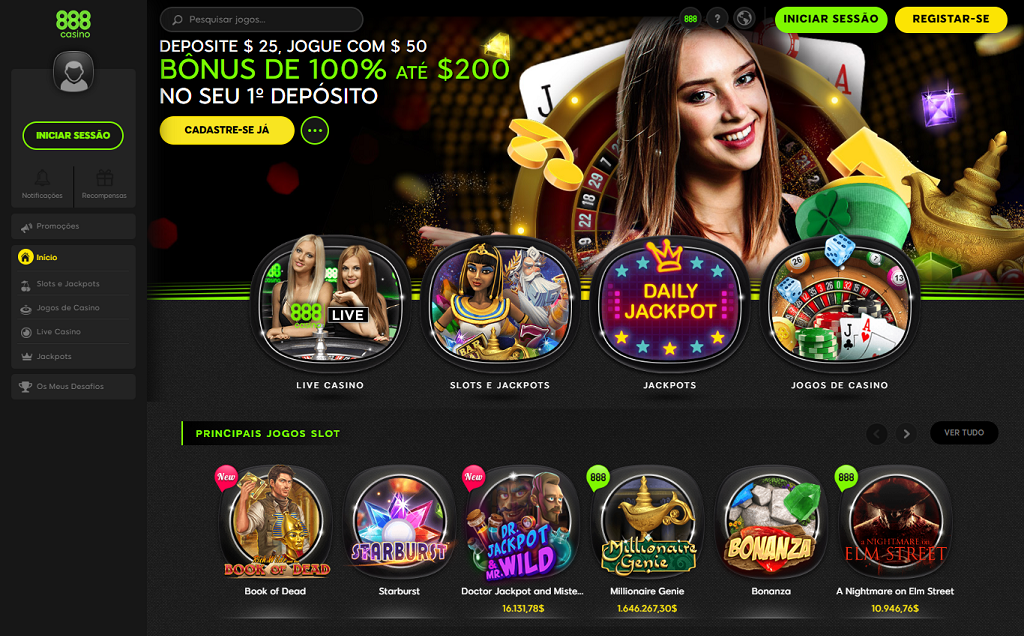 888 Casino site de apostas cassino layout