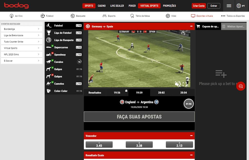 Bodog e-sports esportes virtuais