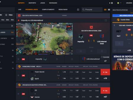 Melhores sites para apostar em e-sports