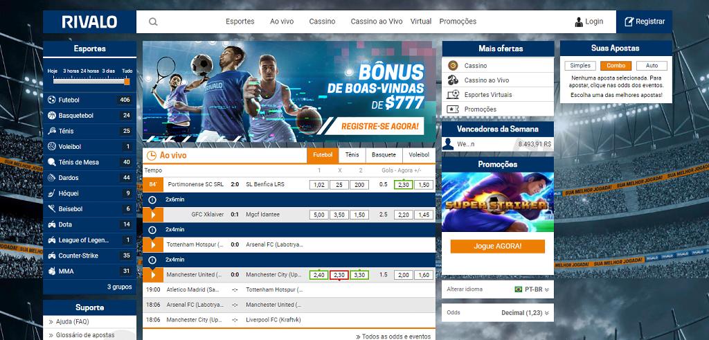 Rivalo bônus sites de apostas página inicial