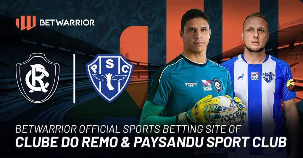 BetWarrior patrocinador oficial do Paysandu e Remo